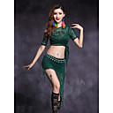 זול הלבשה לריקודי בטן-ריקוד בטן תלבושות בגדי ריקוד נשים הצגה תחרה תחרה שרוול קצר טבעי חצאיות עליון