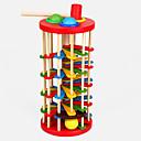 baratos Instrumentos de Brinquedo-Hammering / Pounding Toy Bolas Pistas para Bolinhas de Gude De madeira Crianças Para Meninos Para Meninas Brinquedos Dom 1 pcs