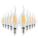 ราคาถูก หลอดไฟ-Ywxlight® 10 ชิ้น led เอดิสันโคมไฟ e14 4 วัตต์ 300-400lm นำแสงเทียนเส้นใยย้อนยุคล้างโคมไฟเย็นอบอุ่นสีขาวสำหรับโคมระย้า ac 220-240 โวลต์
