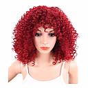 Χαμηλού Κόστους Βρύσες Νιπτήρα Μπάνιου-Συνθετικές Περούκες Σγουρά Afro Kinky Σγουρό Σγουρά Περούκα Κοντό Κόκκινο Συνθετικά μαλλιά Γυναικεία Περούκα αφροαμερικανικό στυλ Κόκκινο