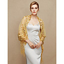ราคาถูก ผ้าคลุมสำหรับชุดแต่งงาน-ฝ้ายผสม งานแต่งงาน / งานปาร์ตี้ / งานราตรี Women's Wrap กับ เลื่อม / พู่ ผ้าคลุมไหล่