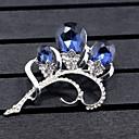 Χαμηλού Κόστους Μοδάτες Καρφίτσες-Γυναικεία Συνθετικό Diamond Καρφίτσες Λουλούδι 3 πέτρα Λουλούδι Ζώο κυρίες Καρφίτσα Κοσμήματα Σκούρο μπλε Για Γάμου Πάρτι Ειδική Περίσταση Πάρτι / Βράδυ Εκδήλωση / Πάρτι Καθημερινή Ένδυση