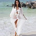 povoljno Modne naušnice-Žene Obala Prikriti Kupaći kostimi - Jednobojni Bijela Mrežica One-Size Obala