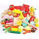 billiga Leksakskök och -mat-Leksaksmat Låtsaslek Grönsaker Frukt Frukt och grönt Magnet Simulering Trä Leksaker Present
