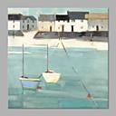 billige Abstrakte malerier-Hang malte oljemaleri Håndmalte - Landskap Kunstnerisk Inkluder indre ramme / Stretched Canvas