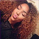 Χαμηλού Κόστους Εξτένσιος μαλλιών με φυσικό χρώμα-Συνθετικές Περούκες Σγουρά Σγουρά Περούκα Ombre Μεσαίο Μαύρο / Medium Auburn Συνθετικά μαλλιά Γυναικεία Μαλλιά με ανταύγειες Σκούρες ρίζες Φυσική γραμμή των μαλλιών Ombre