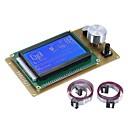 billiga Moduler-12864 lcd smart skärmkontrollmodul med kabel för rampar 1.4 arduino mega pololu skärm arduino reprap 3d skrivarset tillbehör