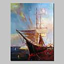 povoljno Slike krajolika-Hang oslikana uljanim bojama Ručno oslikana - Pejzaž Sažetak Moderna Bez unutrašnje Frame