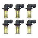 ราคาถูก สร้อยข้อมือ-6 ชิ้น H11 / 9005 / 9006 รถยนต์ Light Bulbs 4W SMD 3528 385lm หลอดไฟ LED ไฟตัดหมอก