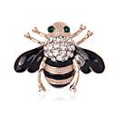 povoljno Značke i broševi-Žene Broševi Pčela Sa životinjama dame Personalized Luksuz Klasik Vintage Kristal Imitacija dijamanta Broš Jewelry Izabrane Boja Za Božić Vjenčanje Party Halloween Rođendan Novorođenče