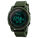 cheap Wallpaper-SKMEI Men's Sport Watch Military Watch Wrist Watch Japanese Digital Silicone Black / Green 50 m Water Resistant / Waterproof Alarm Calendar / date / day Digital Casual Fashion - Black Green Two Years