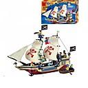 baratos Blocos de Montar-ENLIGHTEN Blocos de Construir Conjunto de construção de brinquedos Brinquedo Educativo Pirata Navio Piratas Para Meninos Para Meninas Brinquedos Dom