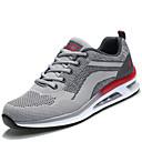 ราคาถูก รองเท้ากีฬาสำหรับผู้ชาย-สำหรับผู้ชาย Light Soles ตารางไขว้ / PU ฤดูใบไม้ผลิ / ตก ความสะดวกสบาย รองเท้ากีฬา สีเทา / แดง / สีดำ / สีแดง