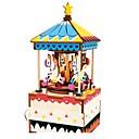 ราคาถูก กล่องดนตรี-กล่องดนตรี Puslespill Horse Carousel ทำด้วยไม้ สำหรับเด็ก ผู้ใหญ่ เด็ก ทุกเพศ Toy ของขวัญ