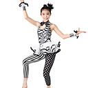abordables Ropa de Baile para Niños-Jazz Unitardos Mujer Rendimiento Poliéster / Licra Diseño / Estampado / Volantes / Lunares Sin Mangas Cintura Media Leotardo / Pijama Mono / Para la Cabeza / Neckwear