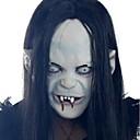 billiga Masker-Mask Halloween Rekvisita Halloween-mask Inspirerad av Zombie Cosplay Skräckfilm Svart Halloween Karnival Herr Dam