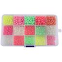 baratos Molinetes de Pesca-Caixa de Derrube Pesca UV Beads Brilho suave Contas de pesca fosforescente 1500 pcs Pesca Conjuntos Pesca de Mar