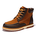 ราคาถูก รองเท้าบูตผู้ชาย-สำหรับผู้ชาย รองเท้าสบาย ๆ Nubuck leather / ขนแกะ ตก / ฤดูหนาว บูท บู้ทสูงระดับกลาง สีดำ / สีเหลือง / ฟ้า / ข้อต่อ / กลางแจ้ง / Fashion Boots / EU40