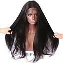 ราคาถูก วิกผมจริง-วิกผมจริง ไม่ได้เปลี่ยนแปลง มีลูกไม้ด้านหน้า วิก สไตล์ ผมบราซิล Straight Yaki วิก 150% Hair Density 10-26 inch ผมเด็ก เส้นผมธรรมชาติ วิกผมแอฟริกันอเมริกัน 100% มือผูก สำหรับผู้หญิง Short ขนาดกลาง ยาว