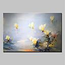 Χαμηλού Κόστους Πίνακες με Λουλούδια/Φυτά-Hang-ζωγραφισμένα ελαιογραφία Ζωγραφισμένα στο χέρι - Άνθινο / Βοτανικό Αφηρημένο / Μοντέρνα Καμβάς