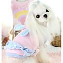 baratos Roupas para Cães-Cachorro Colete Inverno Roupas para Cães Azul Rosa claro Ocasiões Especiais Plumagem Algodão Laço Casual XS S M L XL