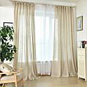 billige Gjennomsiktige gardiner-rene gardiner nyanser to paneler soverom solid farget håndlaget