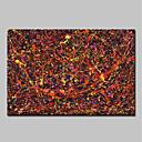 billige Abstrakte malerier-Hang malte oljemaleri Håndmalte - Abstrakt Abstrakt Moderne Uten Indre Ramme
