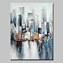 cheap Abstract Paintings-Big Size Hand Painted City Landscape Oil Painting On Canvas Wall Art Picture For Home Decor No Frame