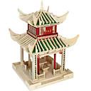 billiga Hundkläder-3D-pussel Pussel Känd byggnad GDS (Gör det själv) Trä Naturligt trä Kinesisk stil Barn Unisex Leksaker Present