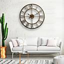 povoljno Zidni satovi-zidni sat, 20 '' okrugli centurian klasični metalni kovanog željeza roman numerički stil home dekor analogni metalni sat