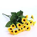 Χαμηλού Κόστους Περούκες από Ανθρώπινη Τρίχα-Ψεύτικα λουλούδια 1 Κλαδί Ποιμενικό Στυλ Φυτά Λουλούδι για Τραπέζι