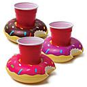 זול כלי שתייה-מתנפחים סופגנייה מחזיק ספל צפות coasters לשתות משקה מחזיקי בריכה ספקי צד