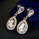 ราคาถูก ตุ้มหู-สำหรับผู้หญิง Drop Earrings ดีไซน์เฉพาะตัว รูปแบบแขวน คลาสสิก ต่างหู เครื่องประดับ สีทอง สำหรับ งานแต่งงาน ปาร์ตี้ โอกาสพิเศษ วันครบรอบ วันเกิด New Baby / ขอแสดงความยินดี / การสำเร็จการศึกษา