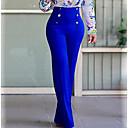 Χαμηλού Κόστους Μανικετόκουμπα Ανδρικά-Γυναικεία Κομψό στυλ street Μεγάλα Μεγέθη Καθημερινά Δουλειά Bootcut / Chinos Παντελόνι - Μονόχρωμο Αγνό Χρώμα Μαύρο Φούξια Κρασί L XL XXL