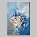 billige Abstrakte malerier-Hang malte oljemaleri Håndmalte - Abstrakt Abstrakt Moderne Uten Indre Ramme / Valset lerret