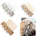 Χαμηλού Κόστους Κοσμήματα Μαλλιών-Κρύσταλλο / Κράμα Κομμάτια μαλλιών / Καλύμματα Κεφαλής / Hair Stick με Φλοράλ 1pc Γάμου / Ειδική Περίσταση / Επέτειος Headpiece