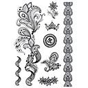 billiga tatuering klistermärken-1 Ogiftig Mönster Halloween Stor storlek Stam Ländrygg Vattentät Annat Tatueringsklistermärken