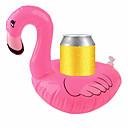 billige Vinglass-oppblåsbare coasters flamingos akvatisk float drink cup holder brett pool party forsyninger