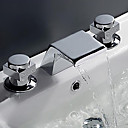 ราคาถูก โคมไฟระย้า-ก๊อกน้ำอ่างล้างจานห้องน้ำ - น้ำตก มีสี กระจาย จับสองสามหลุม / Brass