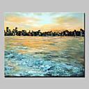 billiga Abstrakta målningar-Hang målad oljemålning HANDMÅLAD - Abstrakta landskap Abstrakt Moderna Utan innerram
