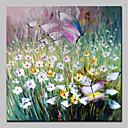 baratos Pinturas Florais/Botânicas-Pintura a Óleo Pintados à mão - Floral / Botânico Abstracto Modern Sem armação interna / Lona Laminada