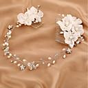 billiga Huvudsmycken till fest-Tyll / Oäkta pärla / Bergkristall pannband / Hair Combs / Blommor med 1 Bröllop / Speciellt Tillfälle / Födelsedag Hårbonad