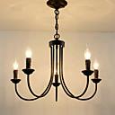 Χαμηλού Κόστους Σχέδιο στυλ κεριών-5-Light Κηροπήγιο Πολυέλαιοι Ατμοσφαιρικός Φωτισμός Βαμμένα τελειώματα Μέταλλο κερί Style 110-120 V / 220-240 V / E12 / E14