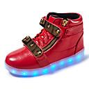 Χαμηλού Κόστους Οθόνες-Αγορίστικα LED / Ανατομικό / Φωτιζόμενα παπούτσια Δέρμα Αθλητικά Παπούτσια Περπάτημα Γάντζος & Θηλιά / LED Μαύρο / Λευκό / Κόκκινο Άνοιξη / Καοτσούκ