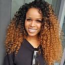 זול פיאות תחרה משיער אנושי-שיער ראמי חלק קדמי תחרה ללא דבק חזית תחרה פאה Rihanna בסגנון שיער ברזיאלי Kinky Curly Ombre פאה 180% צפיפות שיער עם שיער בייבי פוקס לוקס פאה שיער אומבר שיער טבעי פאה אפרו-אמריקאית בגדי ריקוד נשים