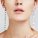 billiga Herrarmband-Dam Syntetisk Diamant Hängsmycken omaka Lång Stjärna damer Lyx Mode Euramerikansk film smycken örhängen Smycken Silver Till Julklappar Bröllop Årsdag Fest Gåva Cocktailfest