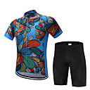 Χαμηλού Κόστους T-shirt Πεζοπορίας-FUALRNY® Ανδρικά Κοντομάνικο Φανέλα και σορτς ποδηλασίας Πολυεστέρας Coolmax® Σιλικόνη Κόκκινο Σκούρο μπλε Άνθινο / Βοτανικό Ποδήλατο Ρούχα σύνολα Γρήγορο Στέγνωμα Anti Transpirație Αθλητισμός