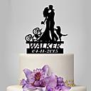 povoljno Svadbeni ukrasi-Figure za torte Klasični Tema / Ljudi / Vjenčanje Par Classic plastika Vjenčanje / godišnjica s 1 pcs Poli Bag