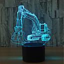 ราคาถูก ไฟตกแต่ง-1set Nightlight 3D USB สัมผัสเซ็นเซอร์ / เปลี่ยนสีได้ ศิลปะ / นาฬิกา LED