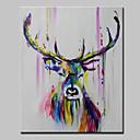 Χαμηλού Κόστους Πίνακες με Ζώα-λαϊκή ζωγραφική χέρι ζωγραφισμένα αφηρημένα ζώα pop art σύγχρονη τεντωμένο καμβά έτοιμο να κρεμάσει